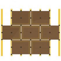 Lehmbauplatte an Wand- und Deckenkonstruktion